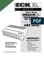 Oreck XL Professional Air Purifier w/ Silence Technology Manual