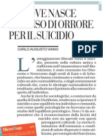 Da Dove Nasce Il Senso Di Orrore Per Il Suicidio - La Repubblica 15.05.2013