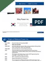 Riley Power Presentation