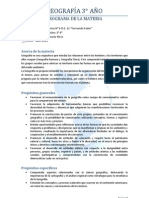 Programa de Geografía 3° 4° 2013
