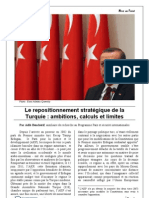 Mise Au Point Le Repositionnement Strategique de La Turquie - Ambitions Calculs Et Limites