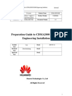 Preparation Guide to CDMA2000 BSC6680 Engineering Installation