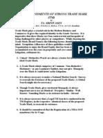 10 Commandments of Strong Trade Mark