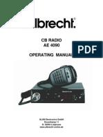 Albrecht AE4090 CB Tranciever Manual
