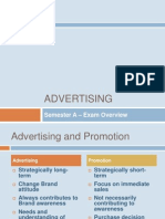 Advertising Sem a Exam Overview