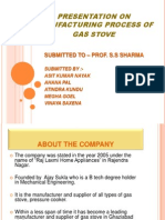 Presentation on Manufacturing Process of Gas Ovan