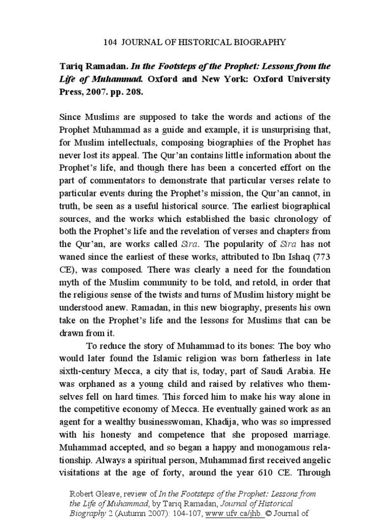 in the footsteps of the prophet ramadan tariq