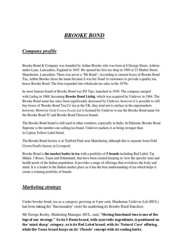 Brooke Bond | Beverages | Foods