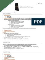 spécifications techniques advideum fr 2013