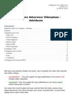 Advideum - Intégration Adserveur MAJ 12022013