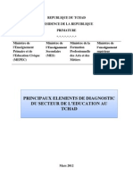 PRINCIPAUX ELEMENTS DE DIAGNOSTIC DU SECTEUR DE L'EDUCATION AU TCHAD (Mars 2012)