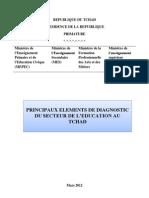 PRINCIPAUX ELEMENTS DE DIAGNOSTIC DU SECTEUR DE L'EDUCATION AU TCHAD (Mars 2012)