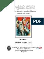 Aralin Panlipunan II Modyul 2.- Yamang-tao Sa Asya
