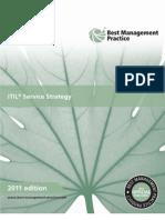 ITIL 2011 Service Strategy