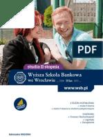 Informator 2013 - Studia II Stopnia - Wyższa Szkoła Bankowa we Wrocławiu