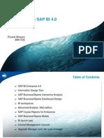 Introduction to SAP BI 4.0