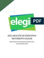DECLARACIÓN DE PRINCIPIOS - ELEGIR