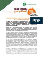 Finalistas Premios Sombra 2013