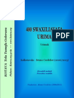 400 swaxiliavafa urima ~ 400 Swahili proverbs (Tanzania, Congo)