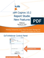 Cognos 10.2 Report Studio New Features