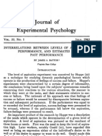 001-021 Interrelations Between Levels of Aspiration, Performance, And Estimates of Past Performance.