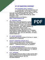 List of Maritime Company
