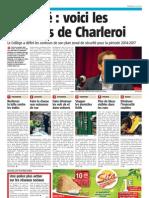 la Nouvelle Gazette - sécurité voici les priorités de Charleroi - 15.05.13