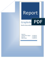 Report on Graphology Handwriting Analysis