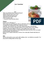 Petria's Mexican Chicken Cannelloni