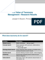 Value of Taxonomy Management