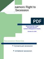 Bangsamoro Right to Secession