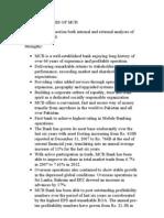 Swot Analysis of Mcb