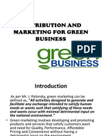 Distribution and Marketing for Green Business