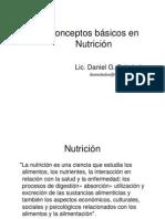 Conceptos básicos en Nutrición
