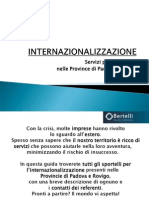 INTERNAZIONALIZZAZIONE e Servizi Per Le Imprese Pv Ro e Pd
