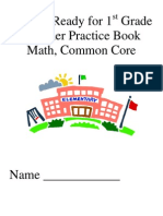 my getting ready for 1st grade math summer practicebook com