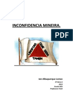 Inconfidencia Mineira Trabalho