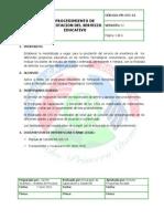 Procedimiento de Prestacion Del Servicio Educativo v02