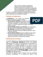 Campos de aplicacion de la estadistica.docx