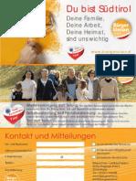 Faltblatt BürgerUnion 2013 Du bist Südtirol