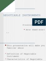 2 Negotiable Instrument