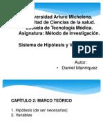 SISTEMA DE HIPÓTESIS Y VARIABLES.