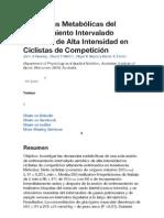 Demandas Metabólicas del Entrenamiento Intervalado Aeróbico de Alta Intensidad en Ciclistas de Competición.pdf