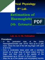 4-Hb. Estimation