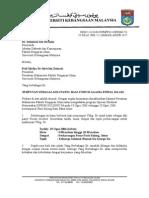 Contoh Surat Jemputan Sebagai Panel Forum