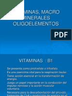 Vitaminas,Macrominerales y Oligoelementos AR