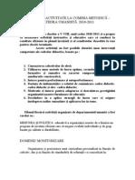 Raport  Comisie Metodica limba si comunicare   Sem i
