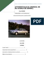 Conducerea Autovehiculului Manual de Iniiere