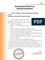 ATPS 2013 1 CST ADS 3 Fundamentos Analise Orientada Objetos
