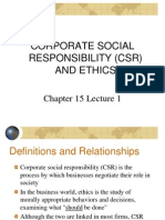 Chapter 15 Lecture 1 CSR & Ethics
